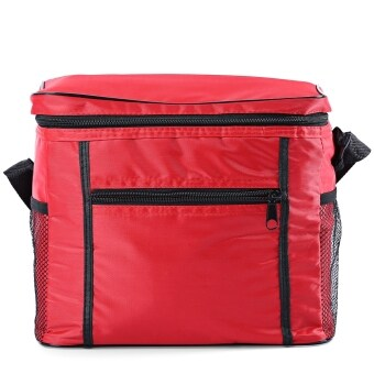 Harga MiniCar Multi-functional Oxford Cloth Insulation Cooler Box Travel Picnic Ice Bag Red(Color:Red)