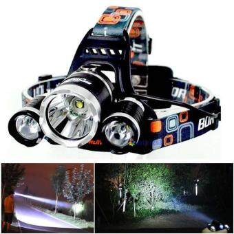 Harga 3T6 Headlamp 3 LED Headlight Light Head Lamp for Camping Hunting Hiking Hat Torch