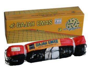 Harga Gajah Emas Sepaktakraw Tournament Net en-24 (Red)