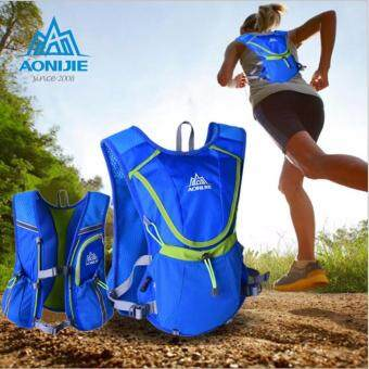 Harga [ Quick Delivery ] AONIJIE unning Cycling Vest Backpack Sports Camping Hydration Water Bladder Bag Blue