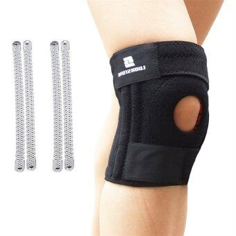 Harga 3 Straps professional knee pad with 4 compression springs,Knee strap,One size, Adjustable tightness, 1 Pcs,Black