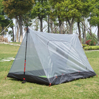Harga Multiple use double resident air vent tent, mosquito tent, light weight, only 720g for entire set, size: L 200cm/W 120cm/H 110cm,easy to set up, compatible with sky dome and awnings, gray