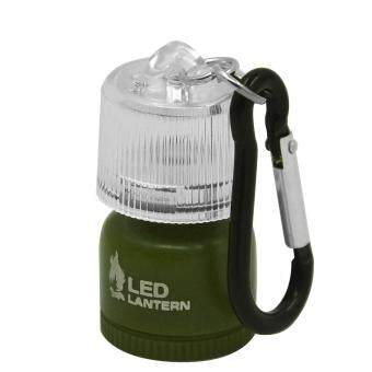 Harga Mini LED Lantern Lamp Flashlight with Carabiner for Camping Hiking Emergency Backpacking Green