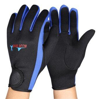 Harga Scuba Diving Neoprene Snorkeling Water Sports Gloves Black Blue M