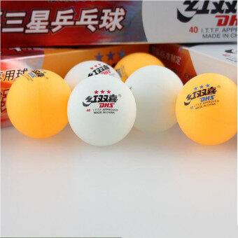 Harga Double Fish Professional Three Stars Level Table Tennis Ball for Competition Match Club Training 10 balls /pack-White color