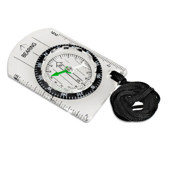 Harga All in One Outdoor Hiking Camping Baseplate Compass MM INCH Map Ruler