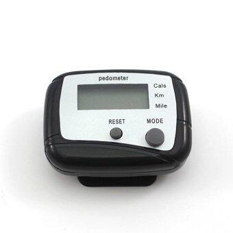 Harga Whyus Electronic Pedometer Running Step Counter (Black)