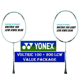 Harga Yonex Voltric 100 & 200 Light LCW Jewel Blue (5U) Badminton Racket Package