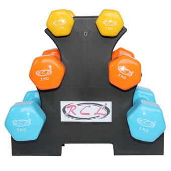 Harga RCL Vinyl Dumbbell Set (1Kg Pair + 2Kg Pair + 3Kg Pair and Rack)