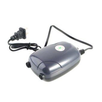 Harga Good Two Outlets Adjustable Air Pump 120 Gal Aquarium 48GPH 220V