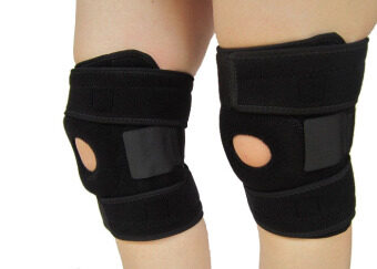 Harga HETU New Neoprene Patella Black Elastic Knee Brace Fastener Support Guard Gym Sports