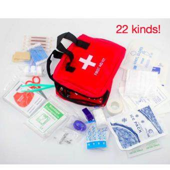 Harga Multi-functional Medical Supplies 22PCS First Aid Kit (Red)