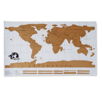 Harga Scratch World Travel Map Poster