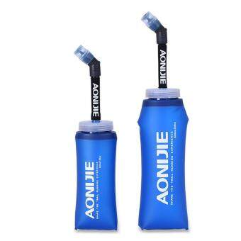 Harga AONIJIE Running Sport Water Bottle Folding TPU Soft Water Flask with Long Straw BPA Free Bicycle Water Bladders Bag Blue 600ml