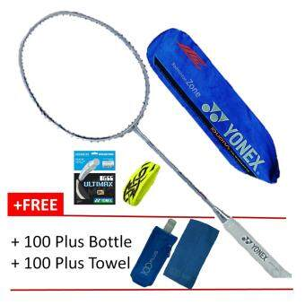 Harga [100% Authentic] Yonex Duora 10 (3U) Jewel Blue+BG66Ult+Grip+Cover+100Plus Towel+Bottle Badminton Racket Package