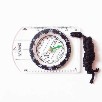 Harga Multifunctional Outdoor Equipment Portable Compass Map Scale Ruler for Hiking Camping