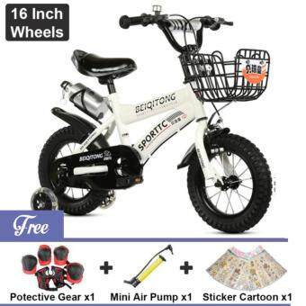 Harga BEIQITONG [NP148] BMX Freestyle Kids Bikes 16 Inch Wheels Boy's And Girl's Bikes With Training Wheels, Gifts For Children