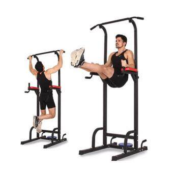 Harga SellinCost Chin Up Body Dip Tower Station CUD-550 Best Pull Up Abs Exercise Adjustable Height 175kg Durable Weight (Black)
