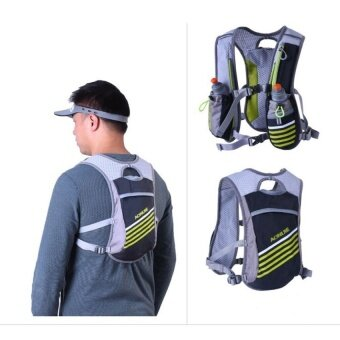 Harga AONIJIE Outdoors Hydration Vest Hydration Pack Backpack For Running Hiking Cycling (Black)
