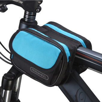 Harga Roswheel Cycling Pouch Front Bikes Frame Bag Saddle Bicycle Panniers Tube Bag Bicycle Accessories Black-Blue