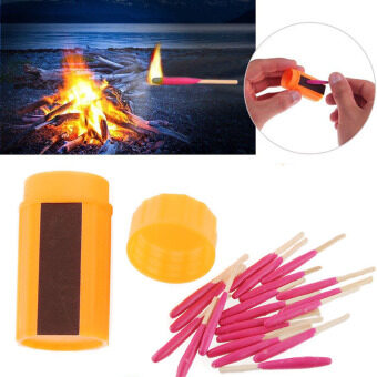 Harga Waterproof Windproof Hiking Camping Survival Tool Kits Light Storm Match