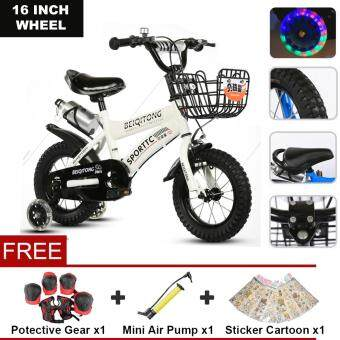 Harga BEIQITONG (NP148) 16 Inch Wheels Sturdy steel frame BMX Freestyle Kids Sport Bikes With Training Wheels for Boys Or Girls