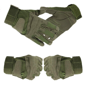 Harga AZONE Outdoor Sports Camping Hunting Training Riding Camping Hiking Game Gloves Green
