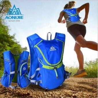 Harga AONIJIE Running Cycling Vest Backpack Sports Camping Hydration Water Bladder Bag Blue