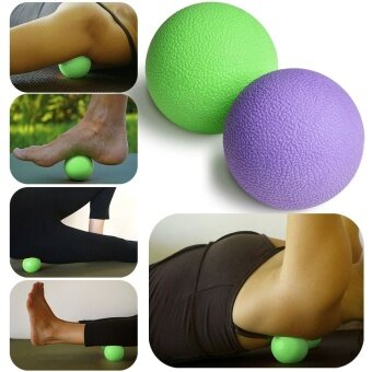 Harga Massage Lacrosse Balls for Myofascial Release, Trigger Point Therapy, Muscle Knots and Yoga Therapy, Set of 2 Firm Balls (Green and Purple)