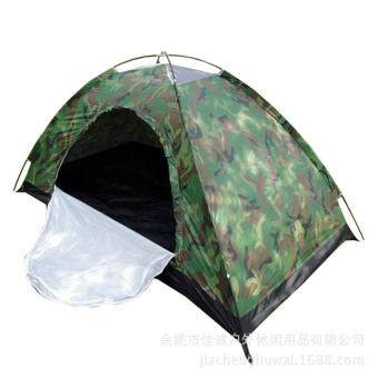 Harga Single Person Camping Waterproof Tent Outdoor Hiking Tent Camouflage Net Field Game Tent
