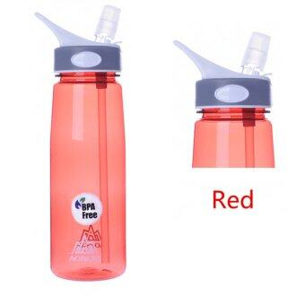 Harga AONIJIE 750ml Cycling Hiking Outdoor Sport Water Bottle BPA Free With Flip Straw Red