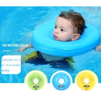 Harga Mambobaby Gas Free Baby Swimming Inflatable Collar,Baby Swimming Float for 3 Months to 12 Months(Green)