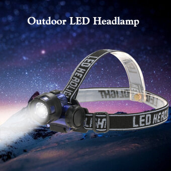 Harga Outdoor Water Resistant LED Headlamp Headlight Flashlight Head Lamp Light Torch for Camping Running Hiking