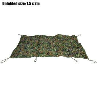 Harga 1.5M x 2M Woodland Military Car Cover Hunting Camping Tent Oxford Camouflage Net Netting