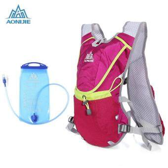 Harga AONIJIE 8L Unisex Running Backpack with 1.5L Water Bag (Red)