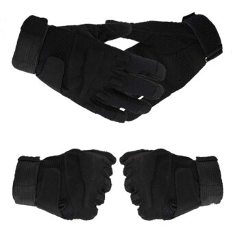 Harga AZONE Outdoor Sports Camping Hunting Training Riding Camping Hiking Game Gloves Black