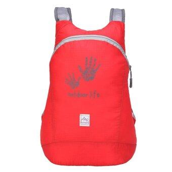 Harga Waterproof Ultra-light Camping Hiking Backpack(Red)