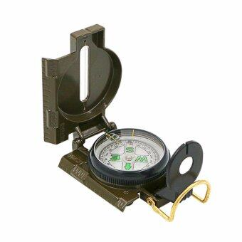 Harga Hiking Compass Field Military Marching Army Outdoor Camping Survival Climbing Biking Lensatic Metal Sighting Compass with Foldable Metal Lid