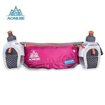Harga AONIJIE Unisex Running Waist Bag with 170ML Water Kettle (Red)