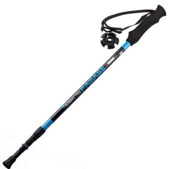 Harga carbon fiber ultralight carbon trekking poles walking stick 155g Built-in shock absorber system hiking pole