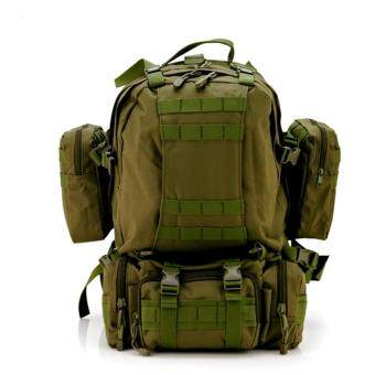 Harga Solid Nylon wearproof Outdoor Sport Climbing Camping Hiking combined Trekking Molle travel Bags Military Tactical Backpack(Green)