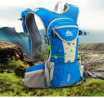 Harga AONIJIE 12L Close-Fitting Hydration pack water backpack vest for Hiking Running Biking (Blue)