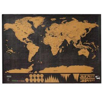 Harga Partiss 1 Piece Scratch OFF MAP Travel Scratch Map 82x60 Cm World Map