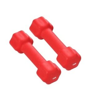 Harga HealthStream VDB-01 Neoprene Dumbbell 2kg (1kg x 2 Red)