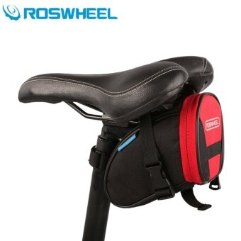 Harga MiniCar Roswheel 1L Bicycle Saddle Bag Bike Repair Tools Pack Pocket for Biking Riding Cycling(Color:Red)