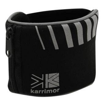 Harga Karrimor Unisex Elasticated Zipped Outdoors Running Sports Wrist Wallet Black