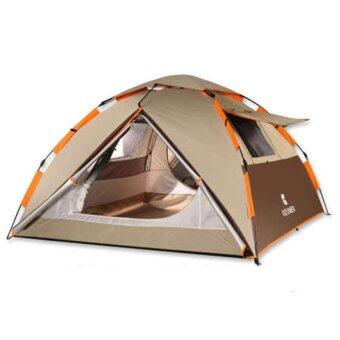 Harga Outdoor Camping Hiking Tent Brown