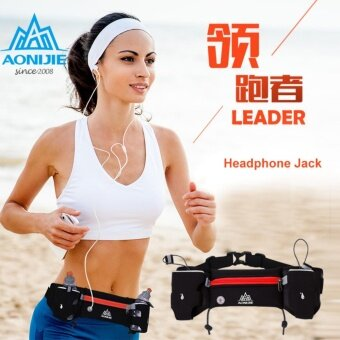 Harga AONIJIE Sport Waist Bum Bag Running Jogging Pouch Belt with 2 Water Bottles