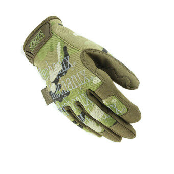 Harga Motorcycle Gym Tactical Fitness Cycling Men Gloves Airsoft Outdoor Sport Wearproof Gloves Light green (Intl)