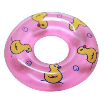 LuckyG 2Pcs Baby Bath Toy Inflatable Swim Ring Toy Plastic MiniSwim Circle Gift for Kids (Pink&Blue) - 3